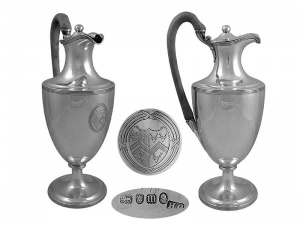 Georgian Silver Coffee Pot London 1787